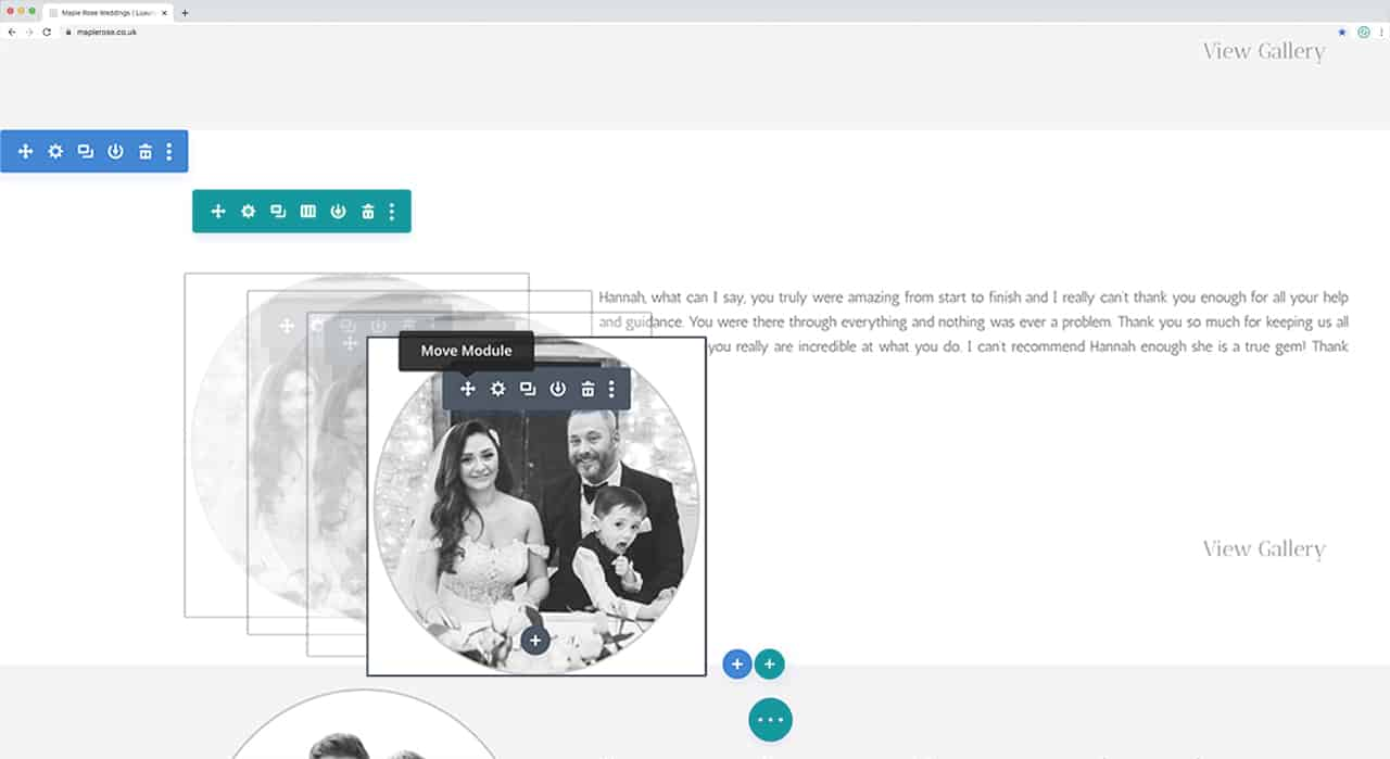 Wordpress Drag & Drop Design